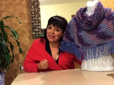 Capita torera con capucha - tejido con dedos  - tejiendo con Laura Cepeda