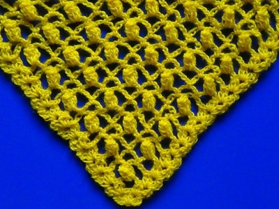 Chal en v tejido a crochet paso a paso en punto calado