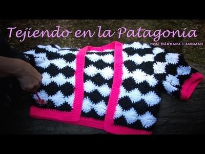 Chaqueta en crochet estilo Damero. Bárbara Langman