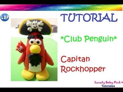 Club Penguin porcelana fria Capitan Rockhopper paso a paso - polymer clay charms- arcilla polimerica