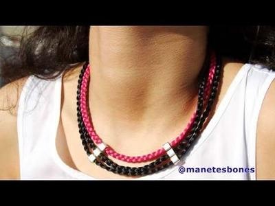 Collar babero de cola de ratón trenzada | Tutorial DIY