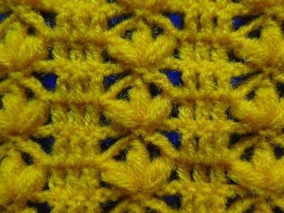 Crochet: punto flores en fila