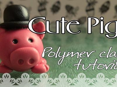 Cute Pig: Polymer clay tutorial | Cerdito: Tutorial Arcilla Polimérica