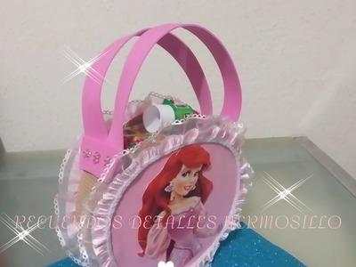 DIY como hacer  Bolsa Dulcera  princesa sirenita