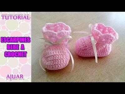 DIY como tejer escarpines, botitas, patucos para bebe a crochet, ganchillo AJUAR