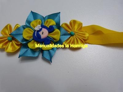 DIY.flores en cinta raso o gross para decorar accesorios o balacas para niña