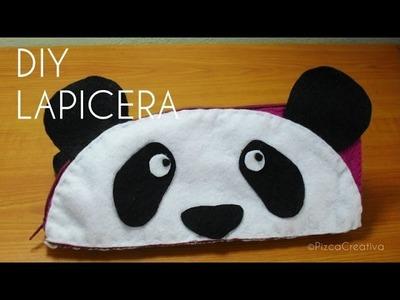 DIY-Lapicera de Oso Panda-Con Moldes