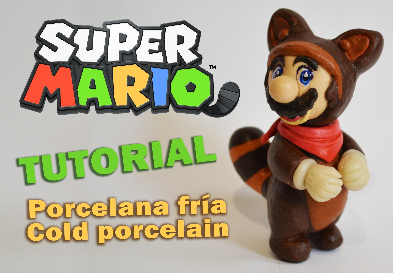 DIY Tutorial Super Mario Bros Tanooki Polymer clay  - porcelana fría - PUNYASO Remix