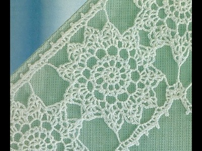 Esquemas para tejer entredós con flores a crochet