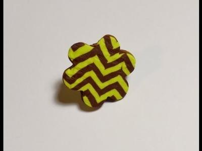 Estampado chevron en arcilla polimérica - Polymer clay chevron pattern