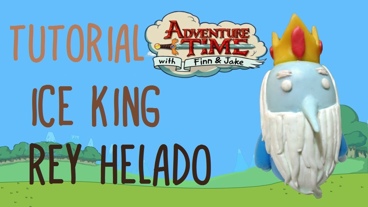 ICE KING Adventure Time (Polymer Clay) TUTORIAL. REY HELADO Hora de Aventura (Porcelana Fria)