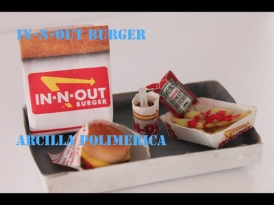 In-N-Out Burger Combo Polymer Clay~ In-N-Out en ARCILLA POLIMERICA