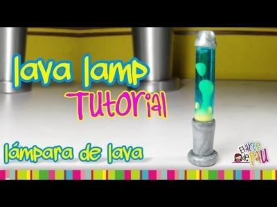 Lava Lamp Polymer Clay tutorial. Lámpara de Lava de arcilla polimérica