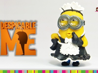 MAID MINION Polymer Clay Tutorial. Minion Sirvienta de Arcilla Polimérica