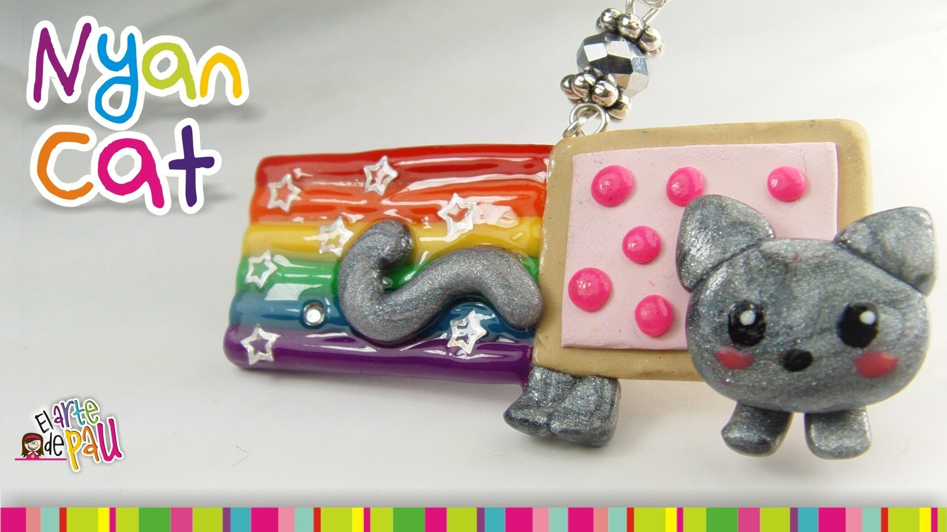 NYAN CAT polymer clay tutorial. NYAN CAT de arcilla polimérica