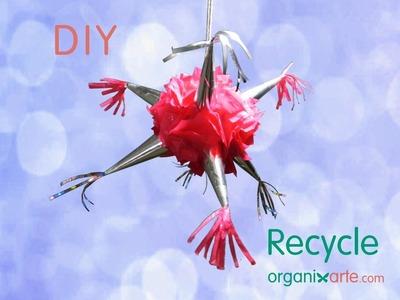 Piñata Decorativa con materiales Reciclados. Tutorial DIY