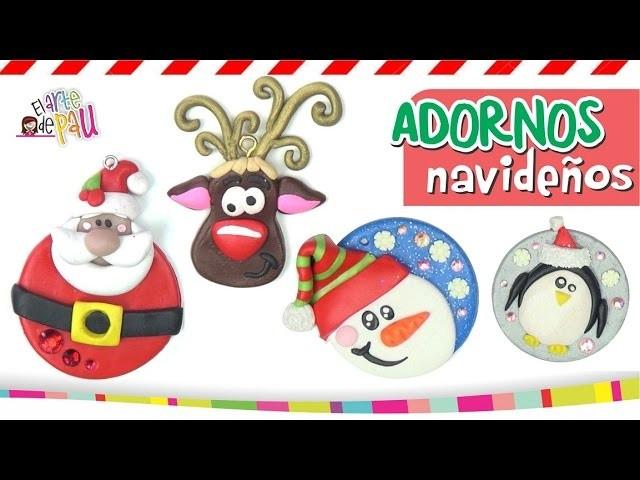 Polymer Clay Christmas Ornaments. ESFERAS DE NAVIDAD