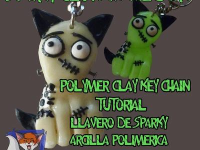 Sparky polymer clay key chain Tutorial