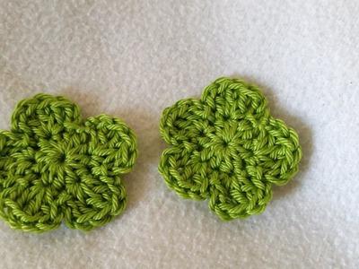 Tejer una flor sencilla - flor en crochet con subtitulo by BerlinCrochet