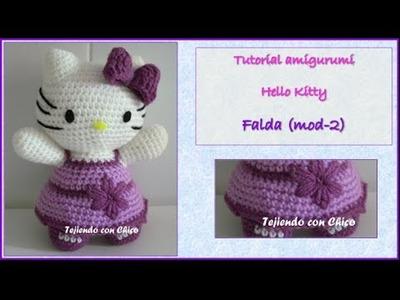 Tutorial amigurumi Hello Kitty - Falda (mod-2)