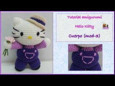 Tutorial amigurumi Hello Kitty - Cuerpo (mod-3)