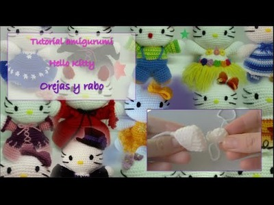 Tutorial amigurumi Hello Kitty - Orejas y rabo
