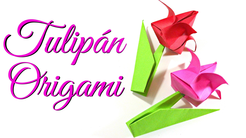 Tutorial: Flores de Papel - Tulipan de Origami | Especial San Valentín | Mundo@Party