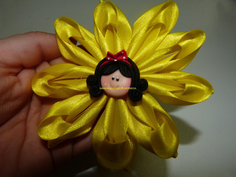 Tutorial flores moños accesorios en cinta para el cabello paso a paso. video 263