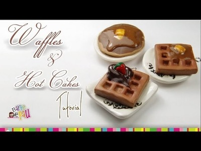 Waffles & Hot cakes polymer clay tutorial. Arcilla polimérica Waffles