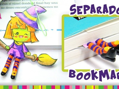 Witch BookMark Polymer Clay Tutorial. Separador de brujita de Arcilla Polimérica