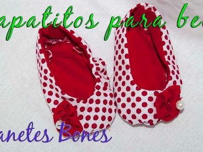 Zapatitos de bebé con patrón | Videotutorial