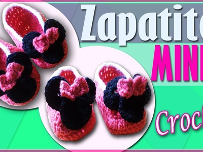 Zapatos Minnie Disney Para Niña -Tejidos a crochet