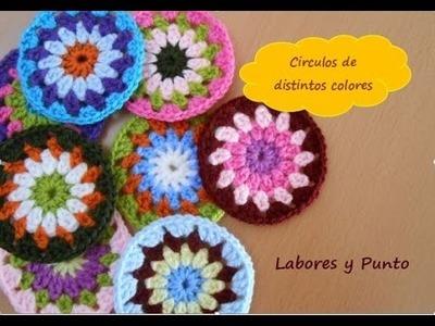 Aprende a tejer estos circulo colores a ganchillo o crochet
