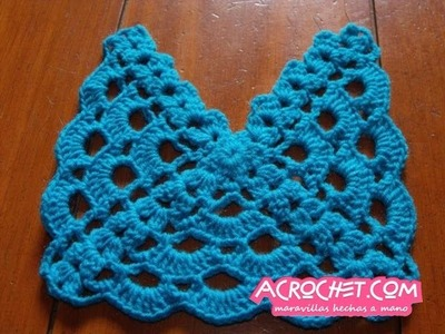 Blog Acrochet Abanicos pequenhos 3 lados tecnica de crochet