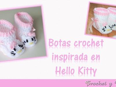 Botas o zapatos a crochet  para bebés inspiradas en Hello Kitty ♥ Todas las tallas
