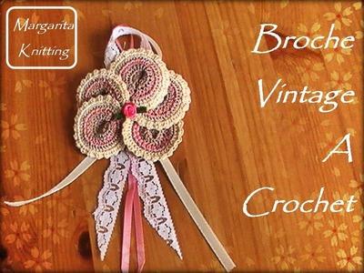 Broche Vintage tejido a crochet (diestro)