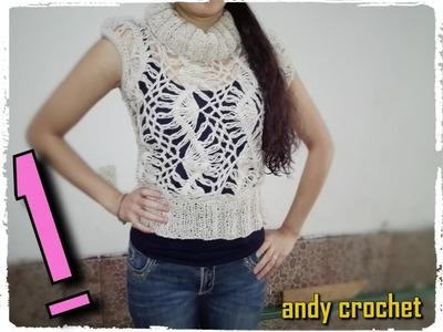 Chaleco en horquilla ( parte 1 ) Andy crochet