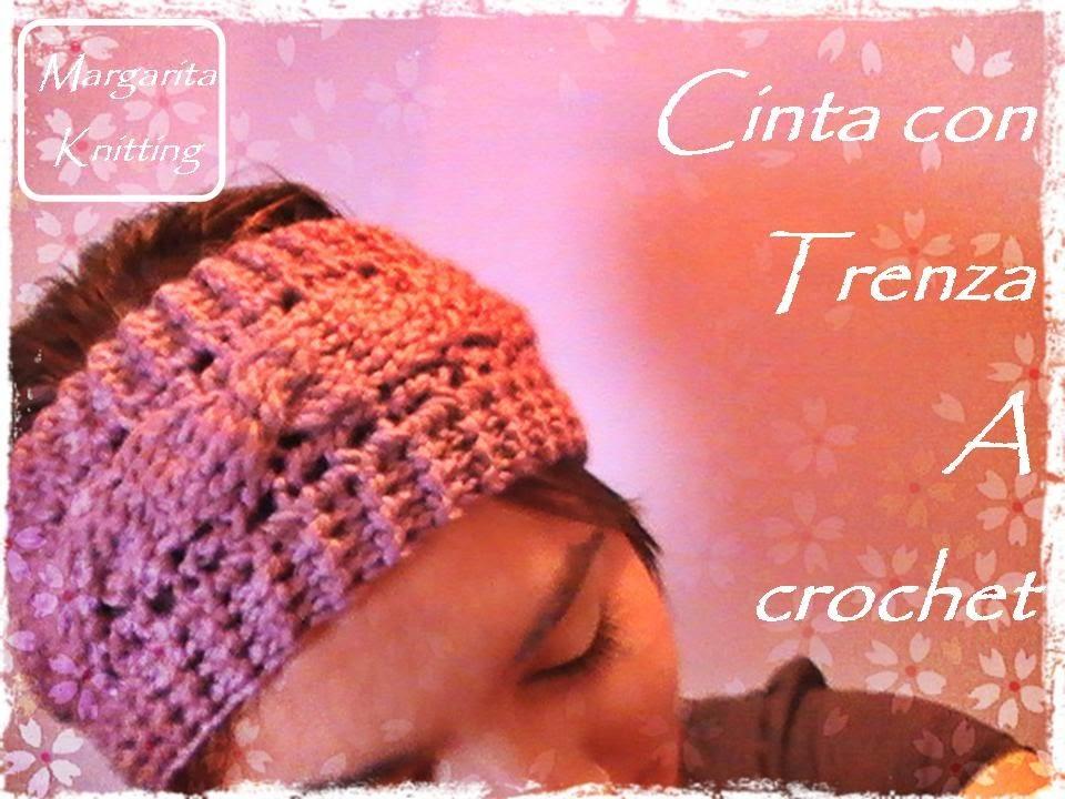 Cinta para el pelo con trenza a crochet (zurdo)