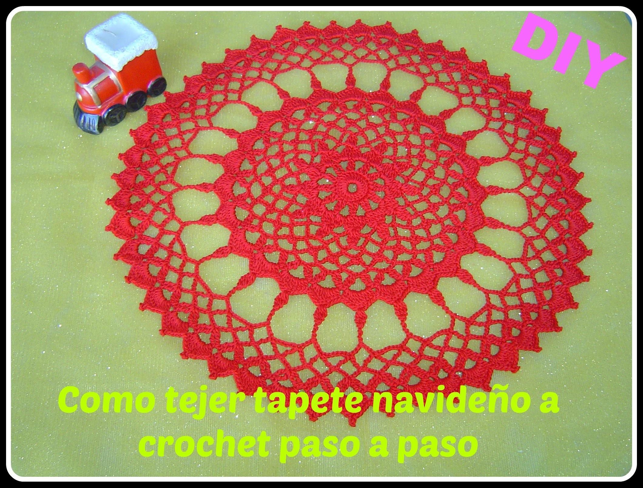Como hacer  tapete, carpeta  a crochet parte 1.2 DIY