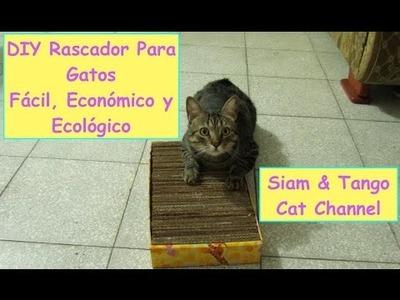 Como Hacer Un Rascador Casero Para Gatos, Fácil, Económico y Ecológico (DIY)
