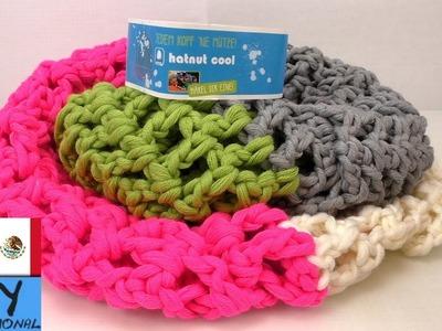 Cómo hacer una bufanda a ganchillo, cuatro colores !!! Tutorial paso a paso