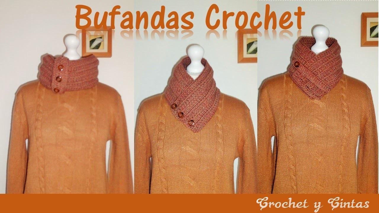 Como tejer bufanda cuello a crochet