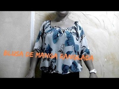 DIY.BLUSA MANGA RANGLADA