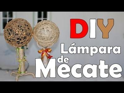 DIY: Lámpara de mecate   Tonatiuh Abarca