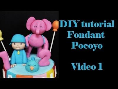 DIY MODELADO 3D EN FONDANT POCOYO. FACIL Y RAPIDO. Video 1