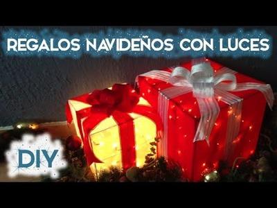 DIY Regalos navideños con luces