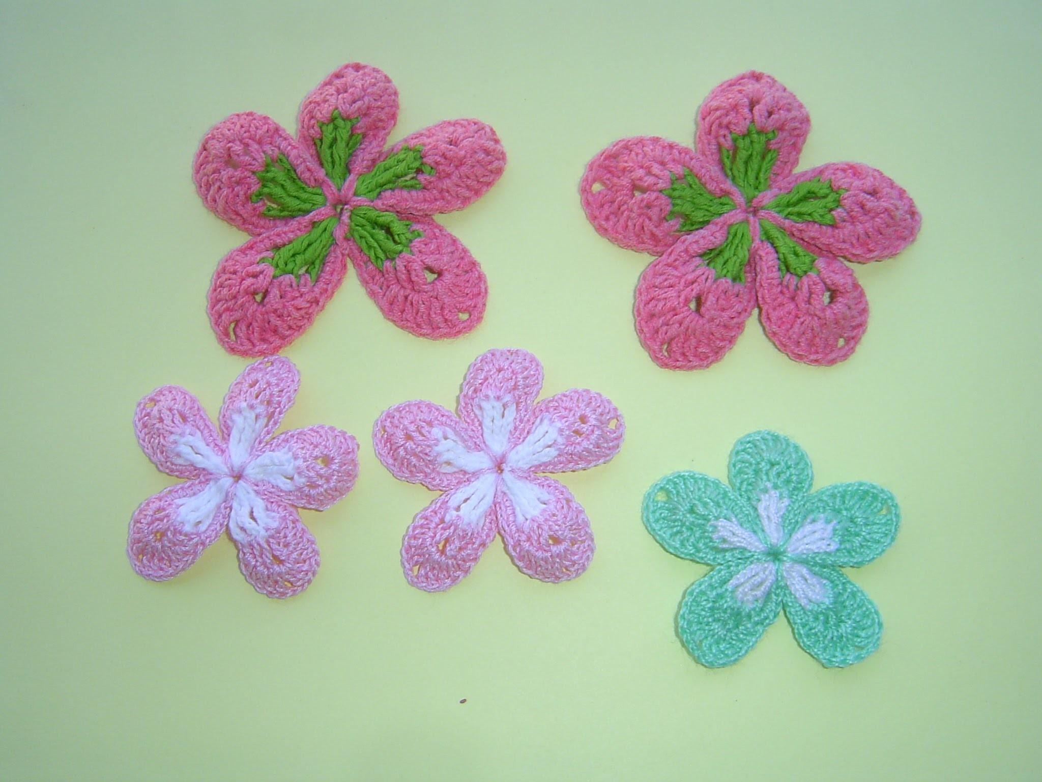 Flor a crochet paso a paso Facil Tutorial DIY