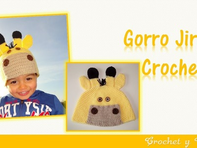 Gorro jirafa tejido a crochet ganchillo para niños – Parte 1