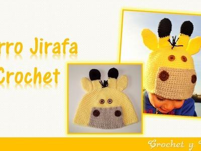 Gorro jirafa tejido a crochet ganchillo para niños – Parte 2