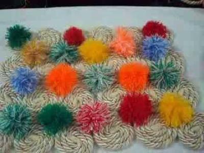 Paso a paso de como hacer un tapete con cordón